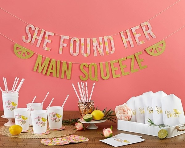 She Found Her Main Squeeze 49 Piece Party Kit