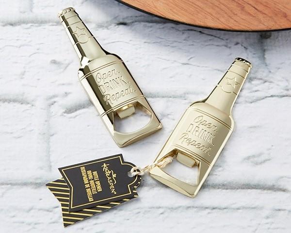 Gold Beer Shaped Bottle Opener