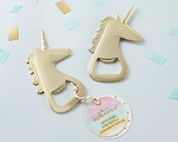 Gold Unicorn Bottle Opener