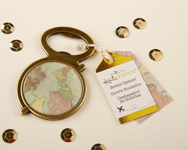 Antique Gold Globe Bottle Opener