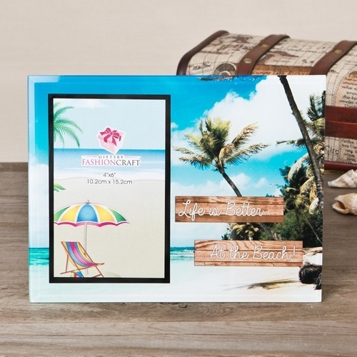Life is Better at the Beach glass frame 4x6