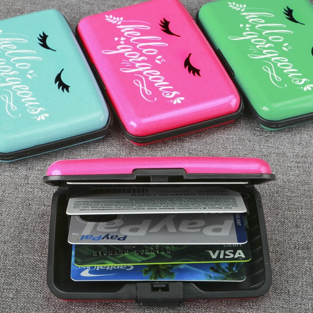 Hello Gorgeous Aluminum wallets from gifts by fashioncraft