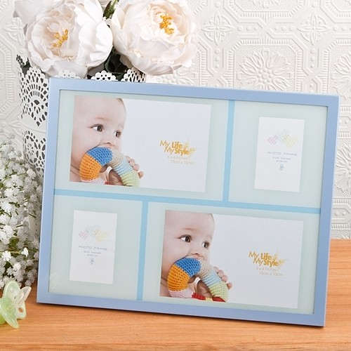 Baby Boy Collage Aluminum frame from Gifts By Fashioncraft