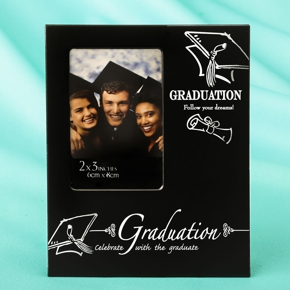 Black & Silver Graduation 2 x 3 mini frame from gifts by fashioncraft