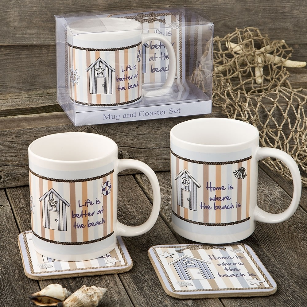 Nautical Mug & Coaster set - 2 assorted Designs from gifts by fashioncraft