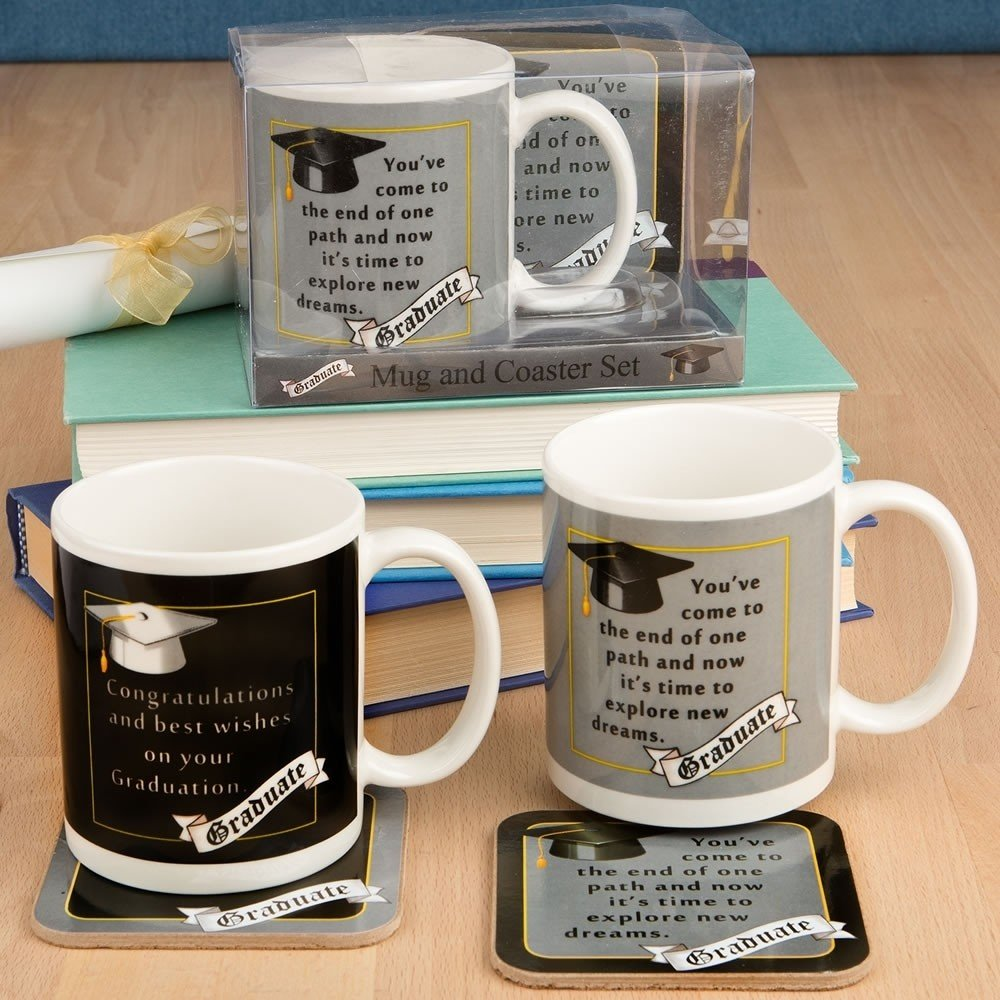 grad mug coaster set 2 assorted styles from gifts by fashioncraft