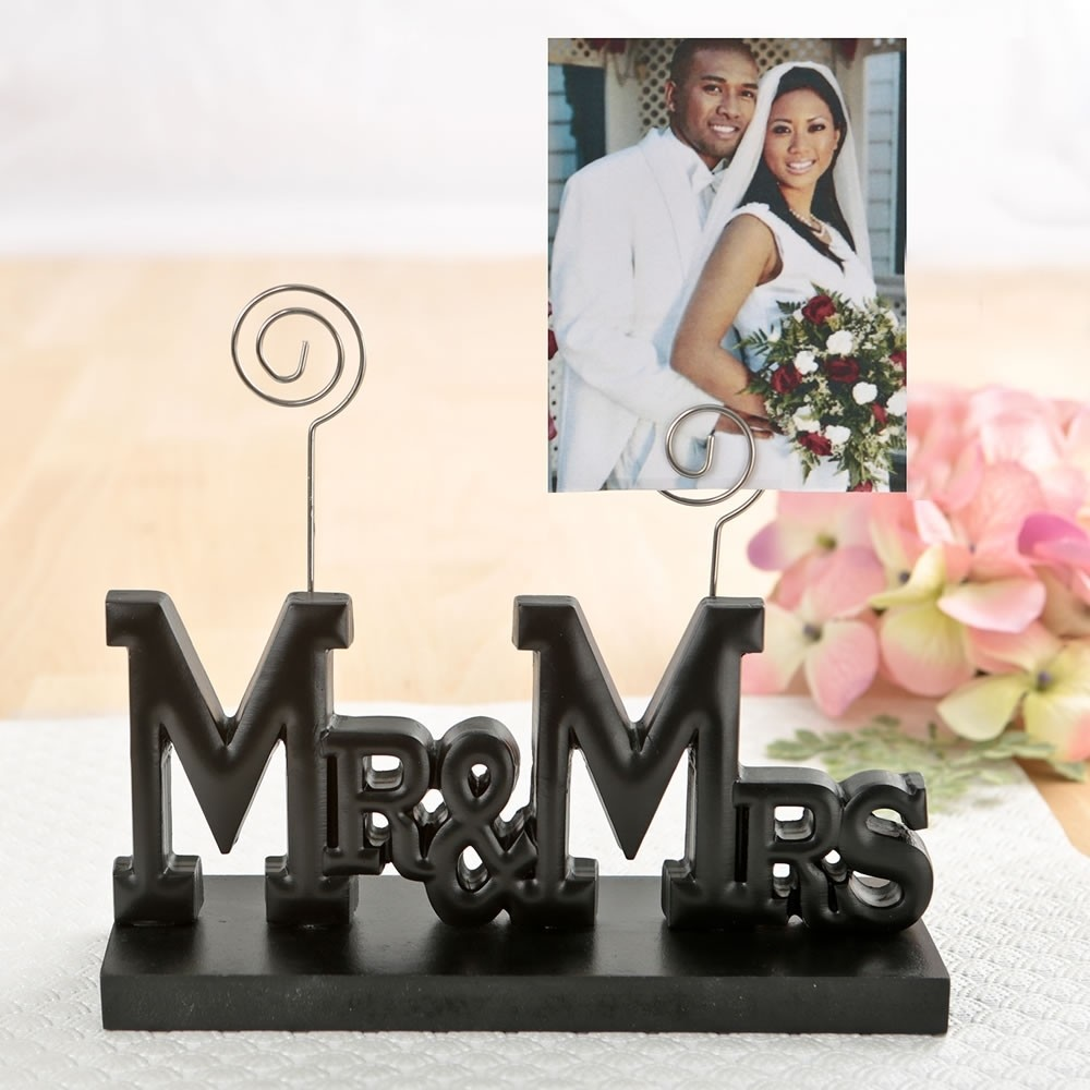 Mr & Mrs black photo holder from gifts by fashioncraft