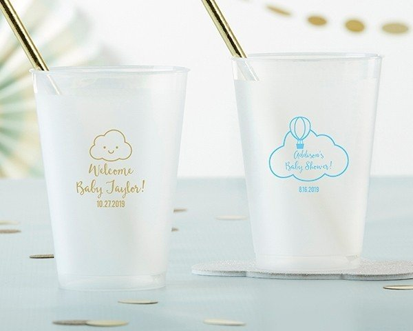 Personalized 12 Oz Frosted Flex Cup Gender Neutral Baby Shower