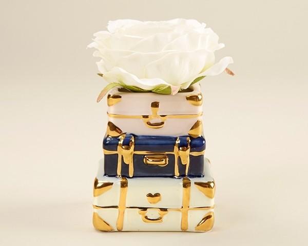 Suitcase Ceramic Bud Vase