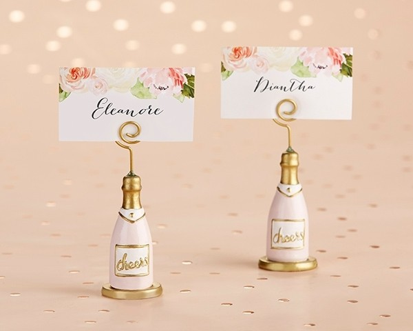 Pink Champagne Place Card Holder (Set of 6)