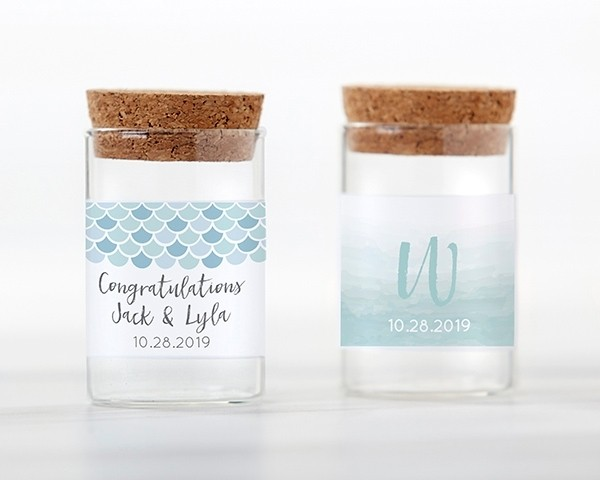 Personalized Glass Tube Jar - Seaside Escape (Set of 12)