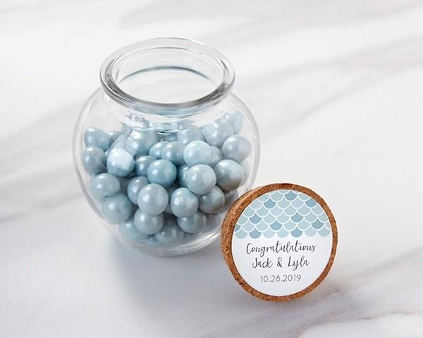 Personalized Glass Sphere Jar - Seaside Escape (Set of 12)