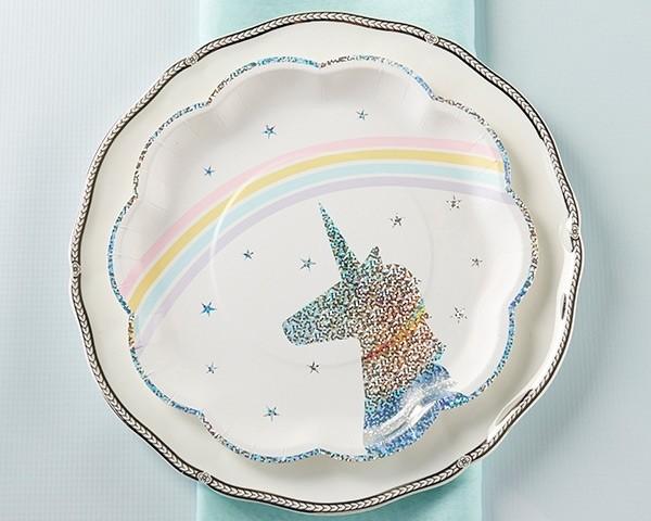 Enchanted Unicorn Paper Plates (Set of 8)