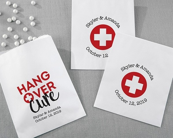 Personalized White Goodie Bags - Hangover (Set of 12)