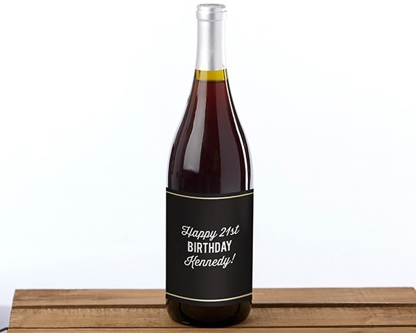 Personalized Wine Bottle Labels - Boozie Birthday