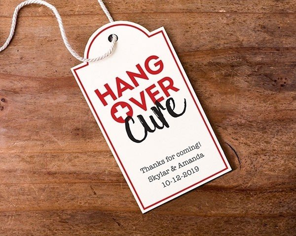 Personalized Statement Tags - Hangover (Set of 12)