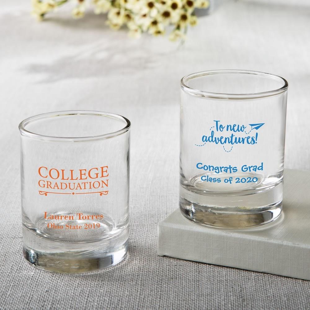 Personalized Shot glass or votive  - graduation design