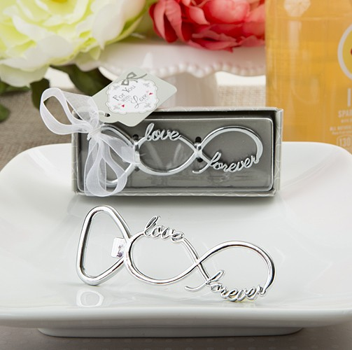 Infinity design silver metal bottle opener