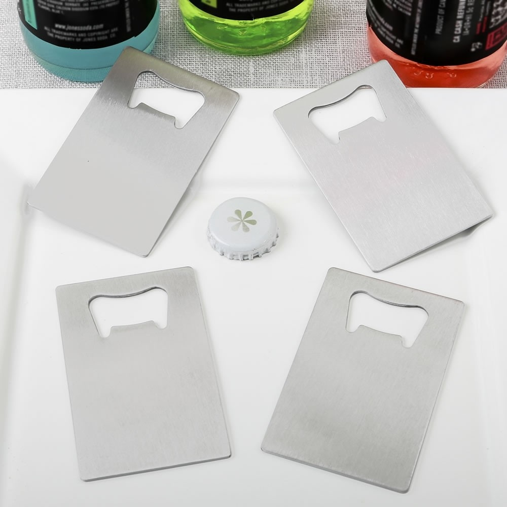 Perfectly Plain Collection - Credit Card stainless steel bottle opener