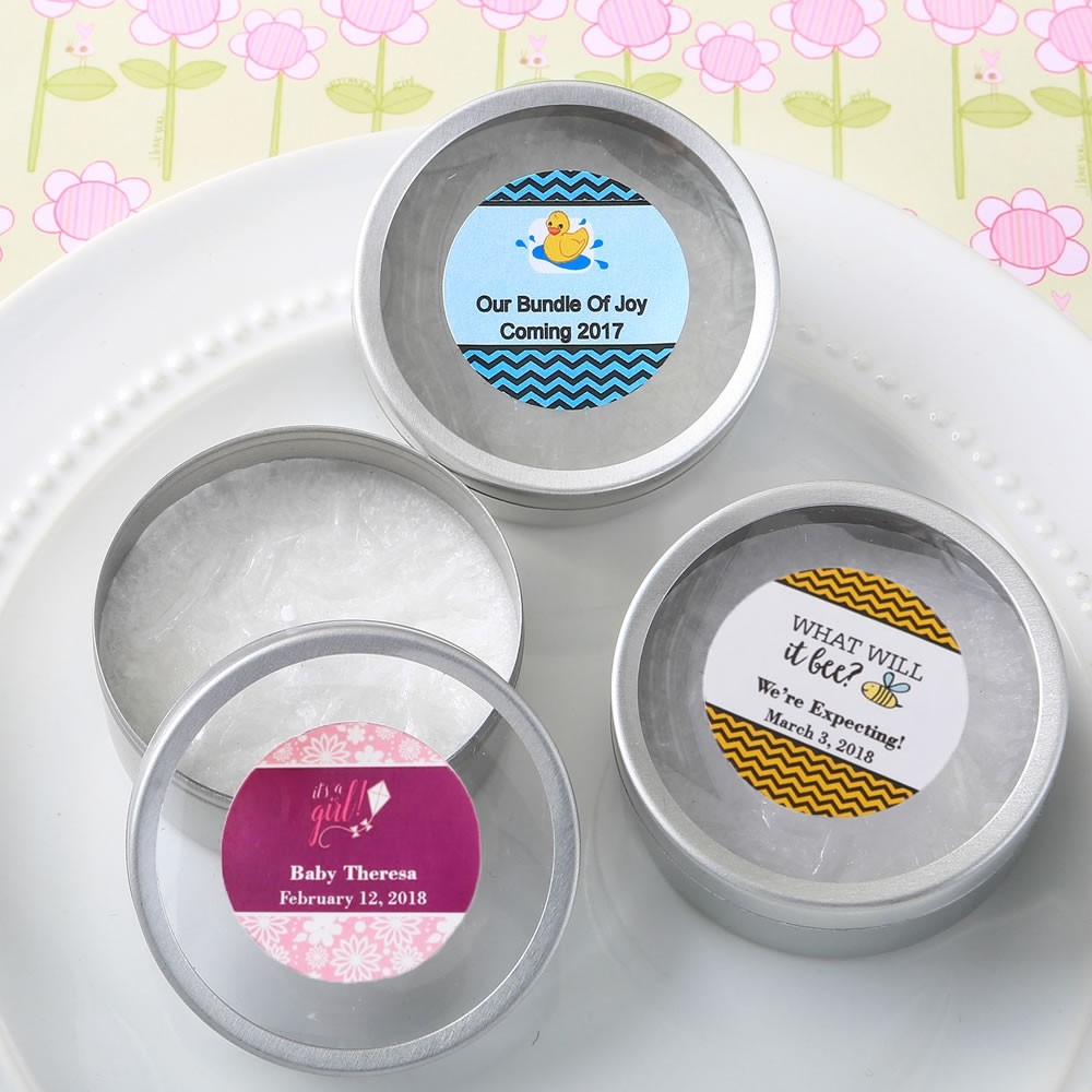 Personalized Expressions Collection  Scented Round Travel Candles