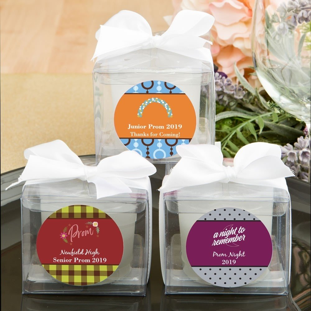 Personalized  Prom collection  candle favors