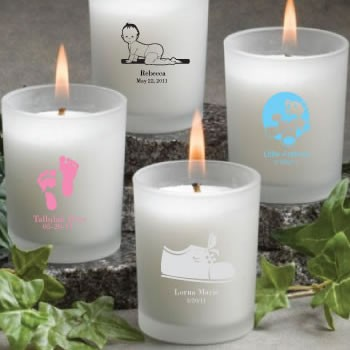 Frosted Glass Candle Holder With Wax