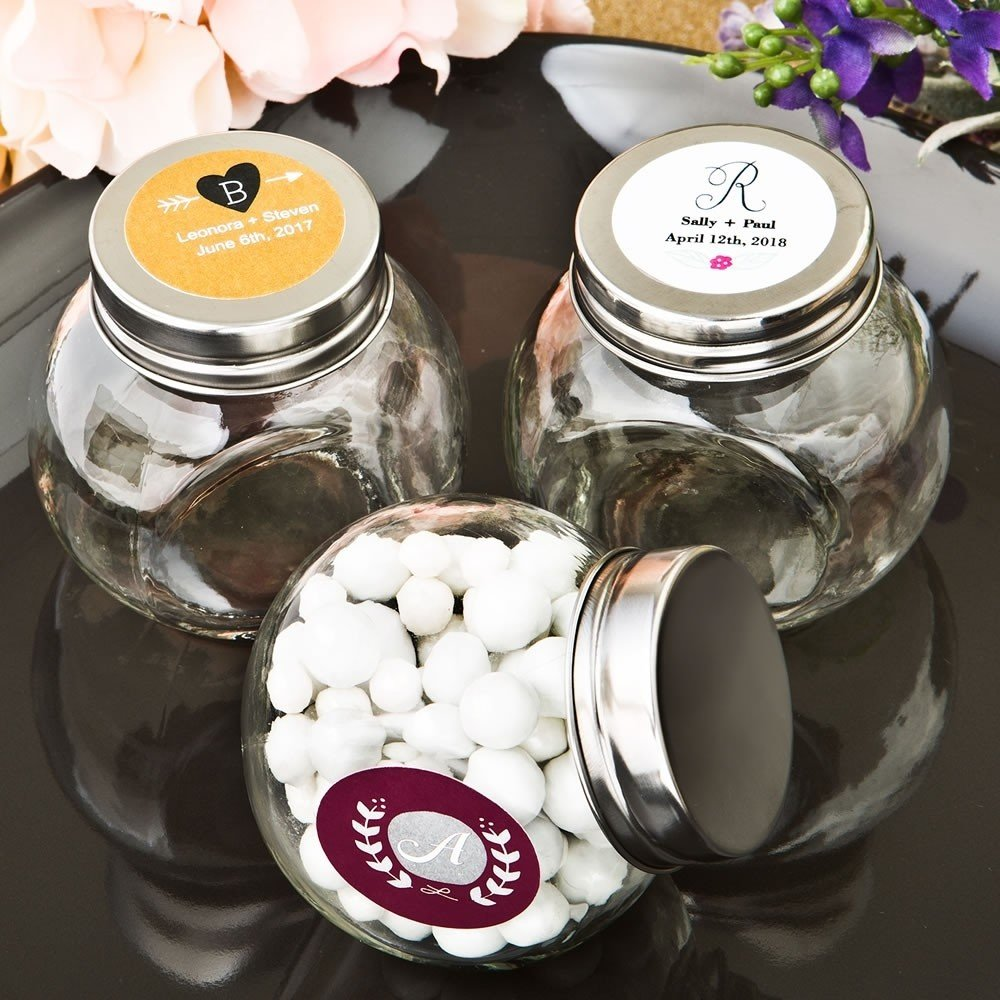Monogram Collection Candy Glass Jar