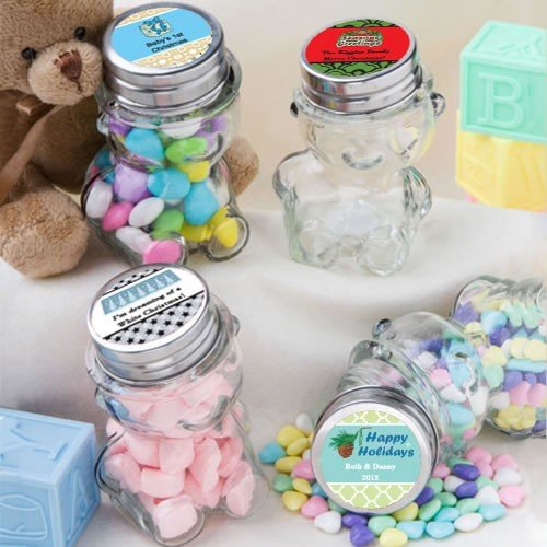 Design Your Own Collection Personalized Teddy Bear Jars - Holiday Themed