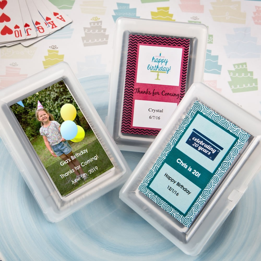 Personalized Playing Card Favor - Birthday Design