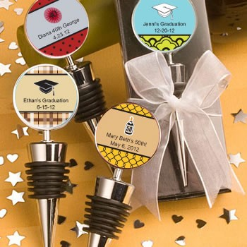 Personalized Expressions Collection Wine Bottle Stopper Favors (Graduation)