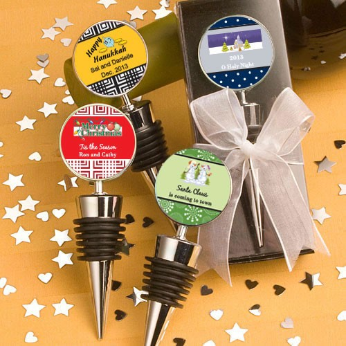 Design Your Own Collection Wine  Bottle Stopper Favors - Holiday