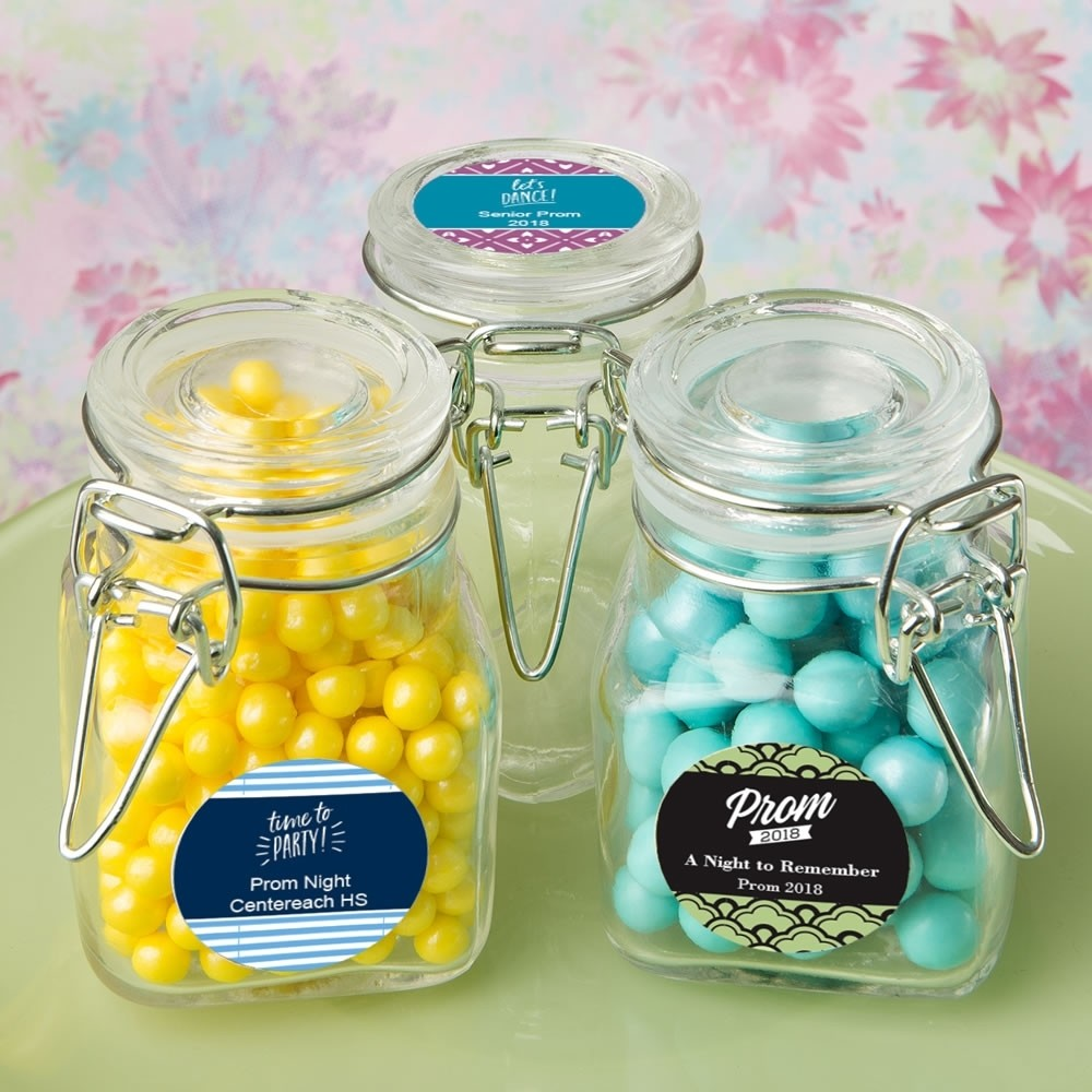 Personalized Classic Apothecary Glass Jar - prom design