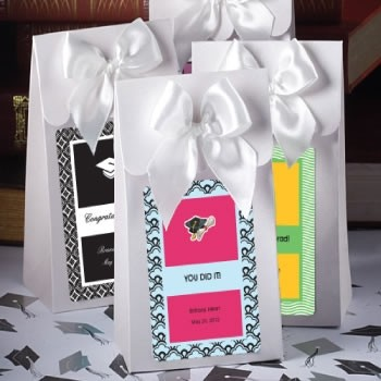 """White """"Delivered With Love"""" Boxes From The Personalized Expressions Collection"""