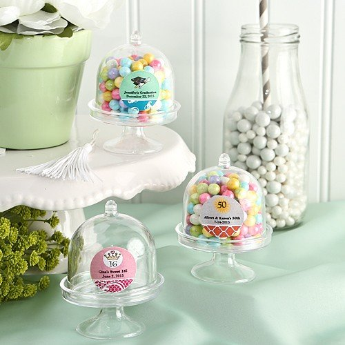 Personalized Mini Cake Stand Plastic Box From The Design Your Own