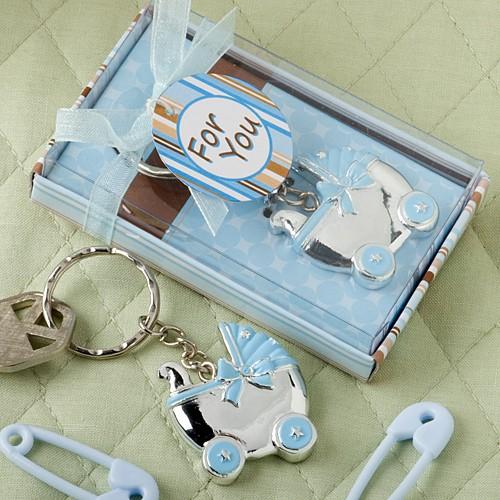 Blue Baby Carriage Design Key Chains Key Chains Wedding