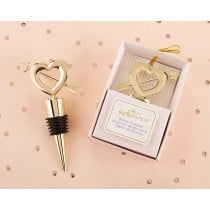 Cupid's Arrow Gold Bottle Stopper