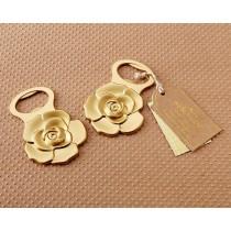 Metallic Gold Rose Bottle Opener