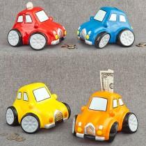 Multicolored ceramic car banks