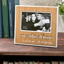 Graduation Frame with Bamboo finish and laser engraving