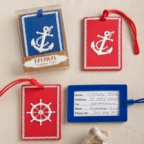 Nautical luggage tags From Gifts By Fashioncraft