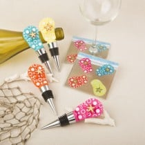 Flip flop bottle stopper and glass coasters