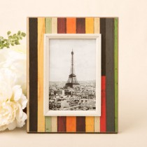 """Distressed wood look vertical striped frame 4"""" x 6"""""""