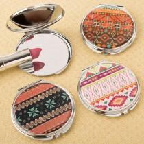 delightful Aztec design compact mirror