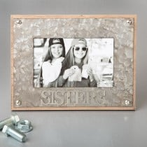 SISTERS industrial style metal frame 4 x 6 from gifts by fashioncraft