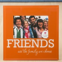 Glass FRIENDS frame - 6 x 4 - orange and White