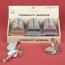 Chevron design mirror compacts