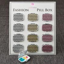 Fabulous Glitter Chevron pill Box from gifts by fashioncraft
