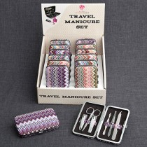 Chevron  Design Travel  Manicure Set