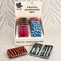 Safari-inspired animal print manicure set
