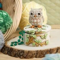 Night Owl On A Branch Trinket Box